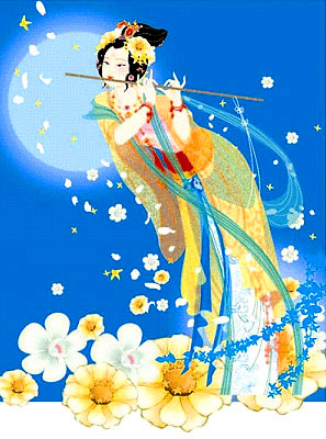 Maiden of the moon as depicted in many chinese mythologies.
