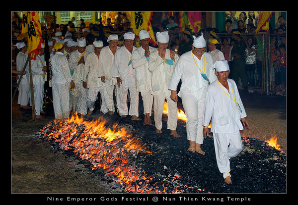 Symbolically, firewalking enact the victory of good over evil and mind over matter. As for the community, the act of purifying themselves over the fire represent the cleansing of all evil influences in their daily lives.