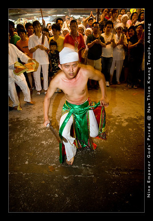 Trance dances and trance rituals are also performed by the spirit mediums during the festival.