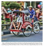 This is the most popular mode of transport in Jogyakarta.