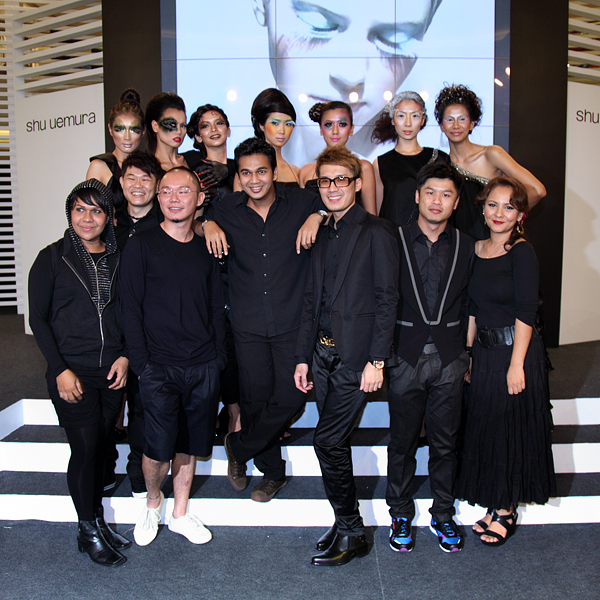shu uemura's Black Book Artists & their respective models.
