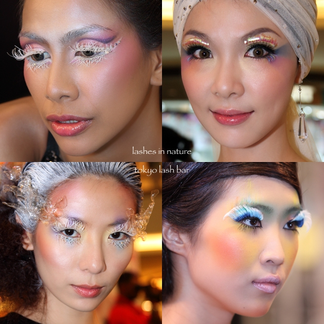Models displaying the latest lashes from Tokyo Lash Bar with nature's theme