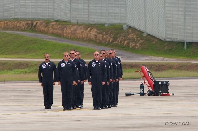 "No detail is too small for the Thunderbirds team, Thunderbirds crew chiefs spend  three hours prior to each flight meticulously checking each aurcraft, ensuring it is 100 percent mission capable. In the team's 56-years history, not one performance has ever been cancelled due to maintenance difficulties."" Excerpt taken from the Thunderbirds 2009 booklet."