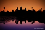 Sunrise as seen from the moat fronting Angkor Wat