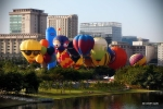 The full collection of hot air balloons were tethered for an amazing display of colors, shapes, sizes and characters.