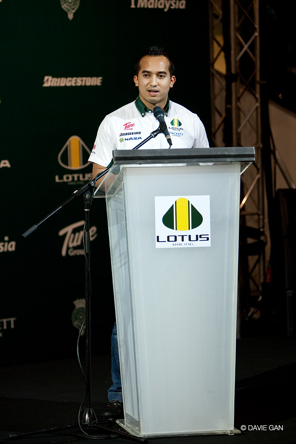 Speech by En SM Nasarudin SM Nasimuddin, Deputy Team Principal of Lotus Racing.